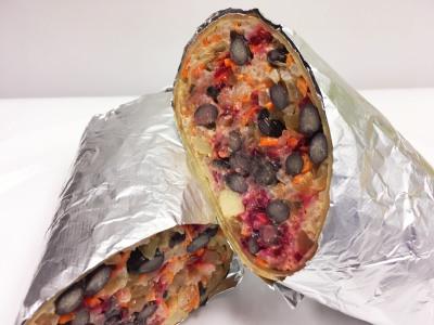 Grilled C-Black Bean Burrito             $8.95