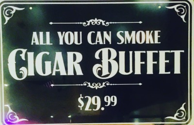 All You Can Smoke Cigar Buffet ONLY $29.99!