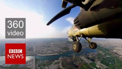 BBC Captures Amazing 360 video Above Mosul!
