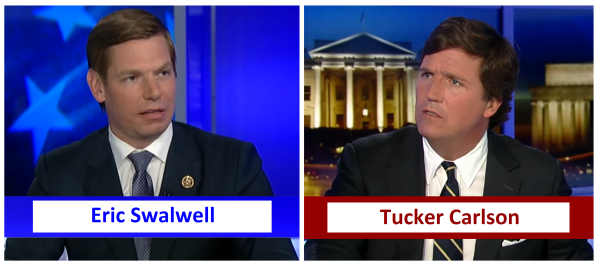 """Citizens are not Priority over Non Citizens"", Rep. Swalwell (D) to Tucker Carlson"