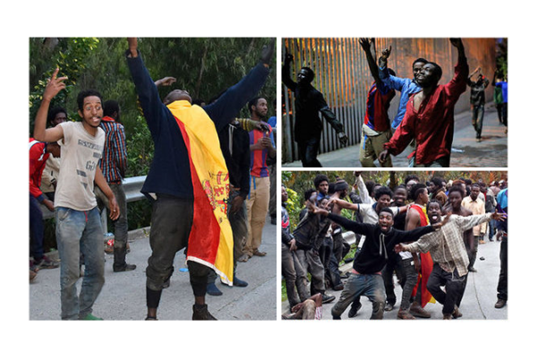 Hundreds of Migrants Rush Border Guards and Invade Spain! Caught on Video!