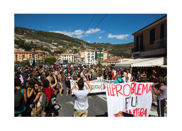 """""""Women Can't Go Out at Night"""" Hundreds Protest in Italy as Refugee Crisis Grows"""