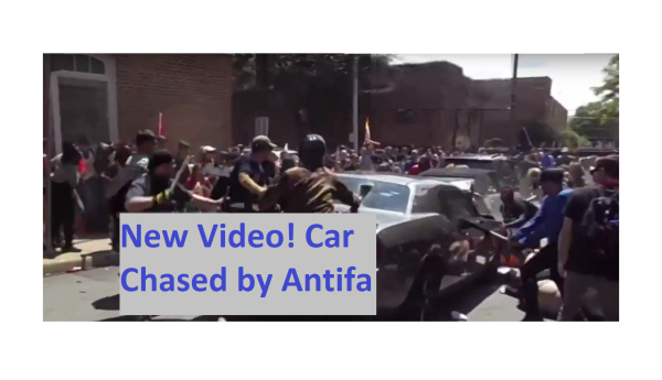 Shocking Video! Charger was Being Chased by Antifa with Bats and Body Armor!