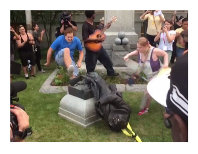 Mob Rule, A Statue Attacked Today, May be People Tomorrow