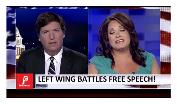 Tucker Defends Free Speech Against Left Wing Fascist!