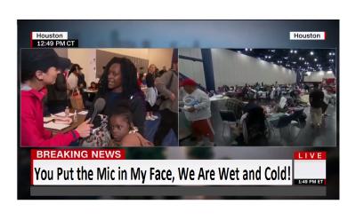 CNN Schooled in Basic Humanity by Flood Victim!