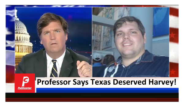 Professor Says Harvey is Retribution for Voting Wrong! Tucker Outraged!