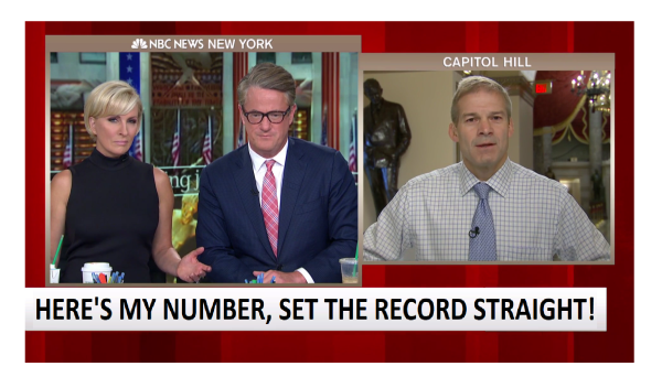 """""""Here's My Number"""" Jim Jordan Tells MSNBC He is """"Setting the Record Straight""""."""