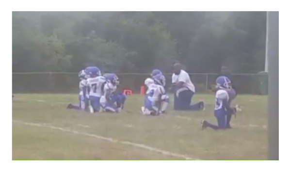Coach Makes 8 Year Olds Kneel During National Anthem