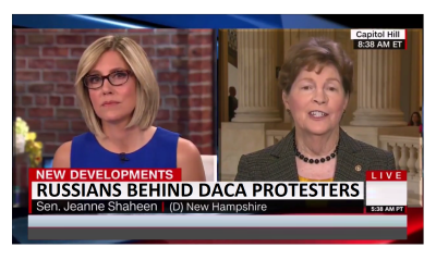 Dem. Senator Suggest Russians Caused DACA Pelosi Protest and Charlottesville.