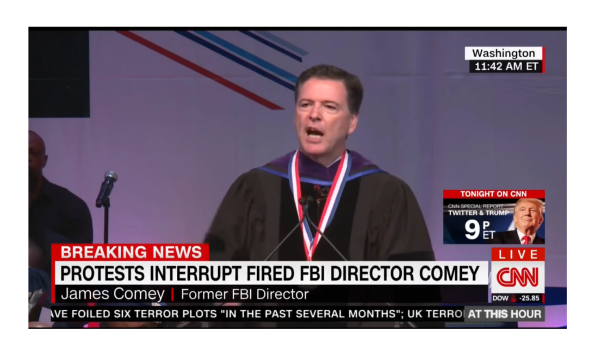 Comey Looses It When Black Power Protest Erupts!