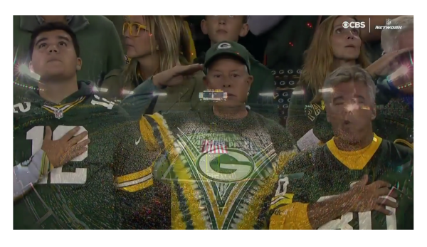 Packer Fans Refuse to Lock Arms! Only a Few Unite in Anti-Flag Protest!