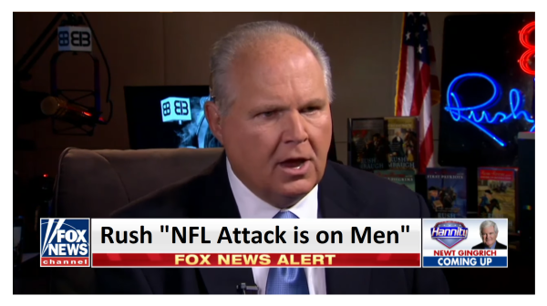 """""""NFL Protest is Really Liberal Attack on Men"""" Rush tells Hannity"""