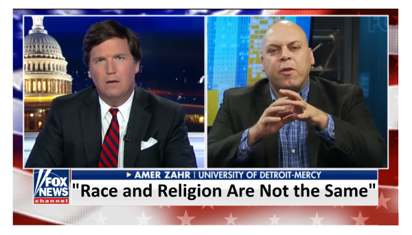 """Religion and Race Are Not the Same Thing"" Tucker Schools ""Moron"" Racist Professor!"