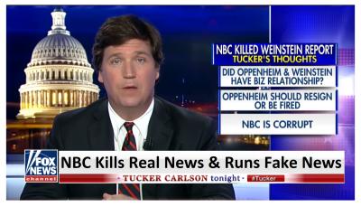 """NBC is Corrupt"" Tucker Blasts NBC for Killing Real News and Printing Fake News!"