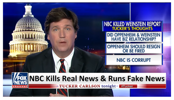 """NBC is Corrupt"" Tucker Blasts NBC for Killing Real News and Printing Fake News!"