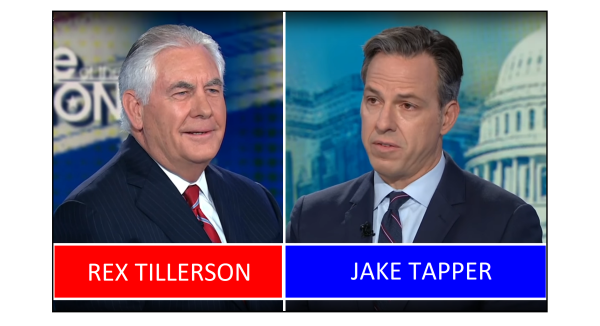 Tillerson Gives Tapper Unexpected Answer on Castration Accusation by Corker