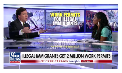 Tucker Debates Wendy Osefo Over 2 Million Illegal Immigrants Getting Work Permits!