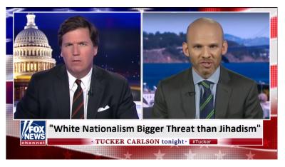 Tucker Slams Liberal That Says White Nationalism is Bigger Threat Than Jihadism!