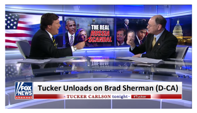 Tucker Unloads His Frustration on Brad Sherman as Sherman Refuses to Talk About Uranium One!