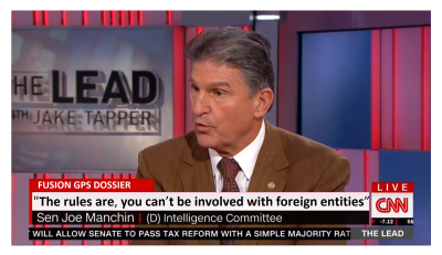 "Joe Manchin (D-WV) Slams Clinton,  ""The Rules are, you can't be involved with foreign entities."""