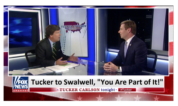 """Tucker Hammers SwalWell (D-CA)  """"You Are Part of It, Congress is Influenced by Foreign Powers!"""""""