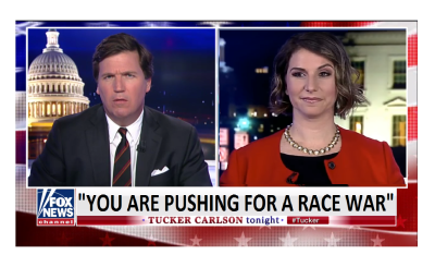 """Tucker Slams C.A.P. Director """"You Are Pushing for a Race War!"""""""