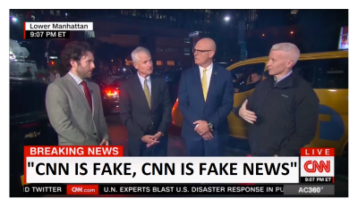 """""""CNN is Fake News"""" Anderson Cooper Gets Shouted Down to His Face Live on CNN!"""