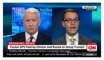 Fusion GPS Paid by Clinton and Russia to Setup Trump! Mook Brags to CNN!