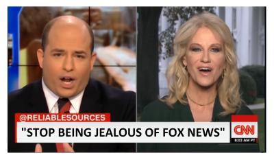"""Kellyanne Slams CNN, """"Stop Being Jealous of Fox News!"""""""