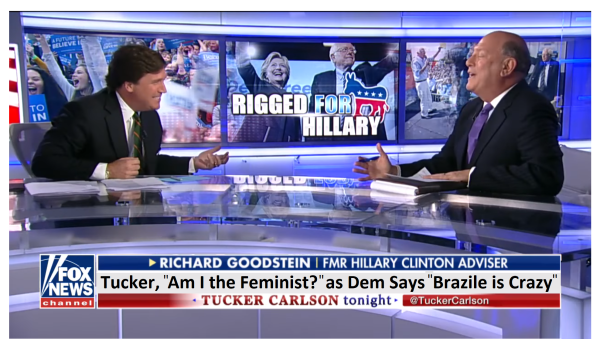 """Tucker Asks, """"Am I the Feminist?""""  as He Defends Brazile to Dem Who Says, """"Brazile is Crazy!"""""""