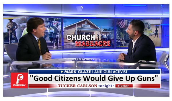 Tucker Debates Liberal That Says Good Citizens Would Give Up Their Guns