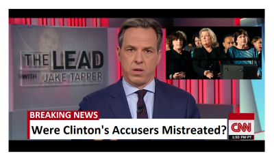 "Jake Tapper Adresses Clinton Accusers, ""The media treated those women poorly."""