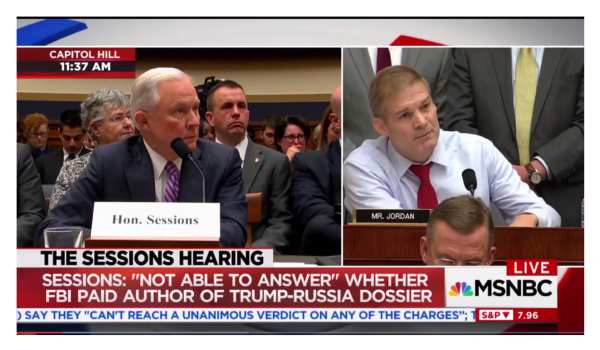 """Jim Jordan Blasts Sessions, """"What's it going to take to get a special counsel?"""""""