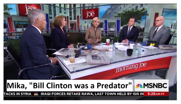 MSNBC Host Says Bill Clinton is a Predator and Accusers Stamped with a Scarlet Letter!