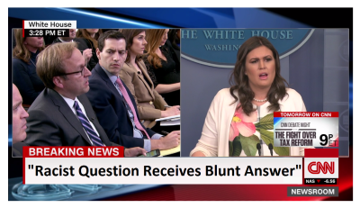 Sarah Sanders Gives Ice Cold Answer to Silly Racist Question