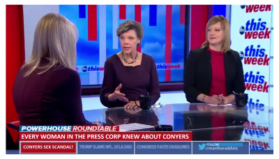 "Cokie Roberts Says ""Every Woman in the Press Corp Knew About Conyers"", Yet They Said Nothing!"