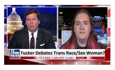 Tucker Agrees with Trans Race/Sex Filipino Woman?