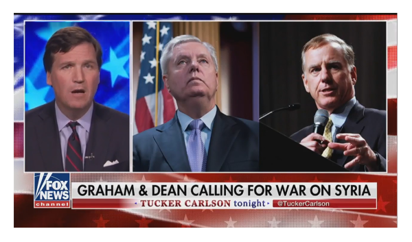 Tucker is a Lonely Voice in the Crowd Against Iraq 2.0, The Bipartisan Push for War Must Be Stopped!
