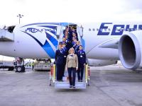 Egyptian airline's first all-female flight crews take to skies