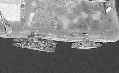 Two Saudi Badr-class corvettes and an Al-Jawf (Sandown)-class mine countermeasures vessel are seen a