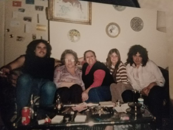 Ann Latman with some of her family in the 80s