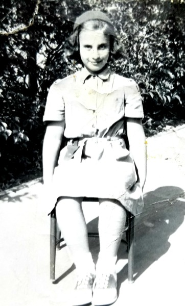 Ann Latman as a young girl scout