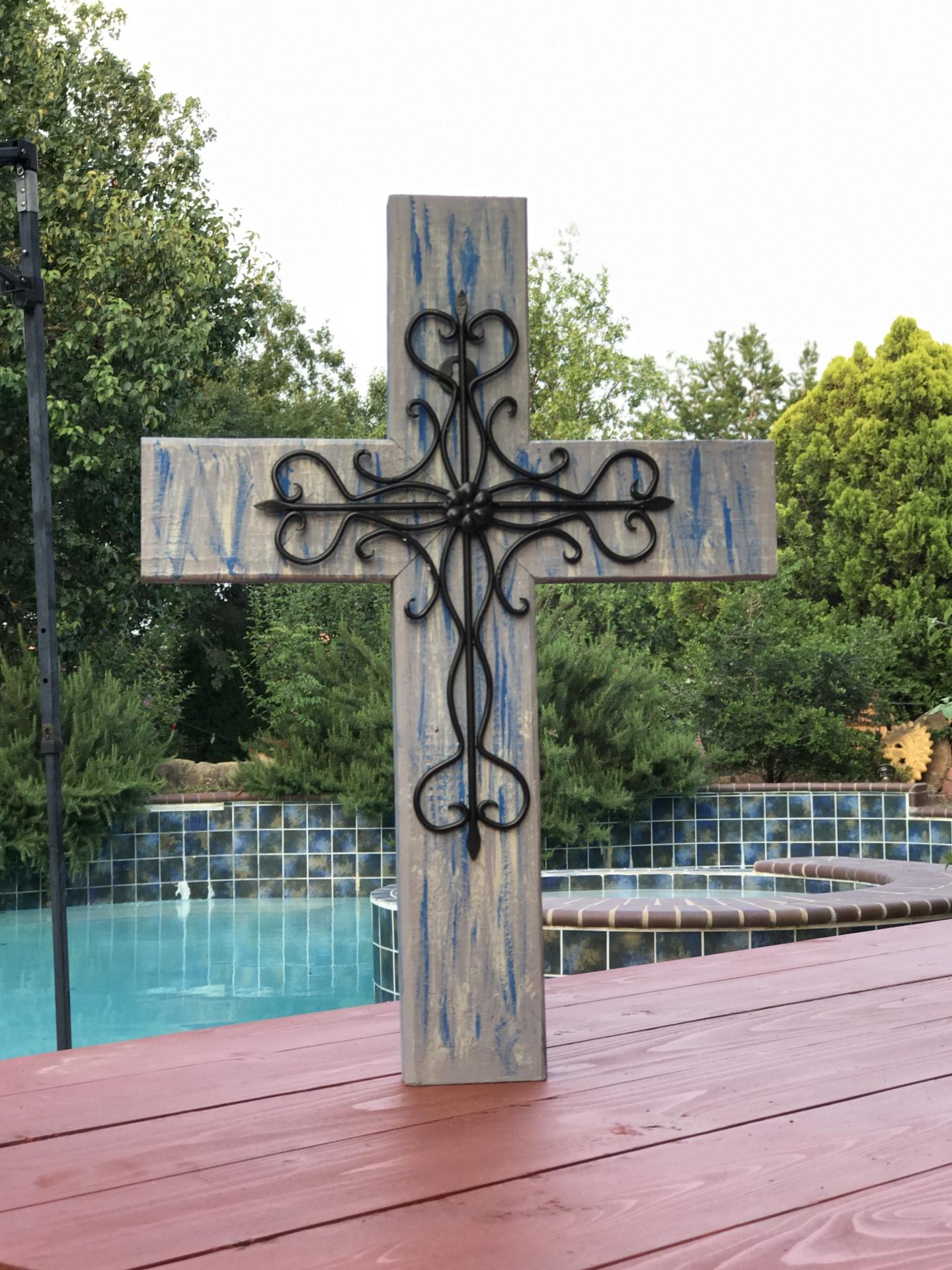 Metal Wood Cross