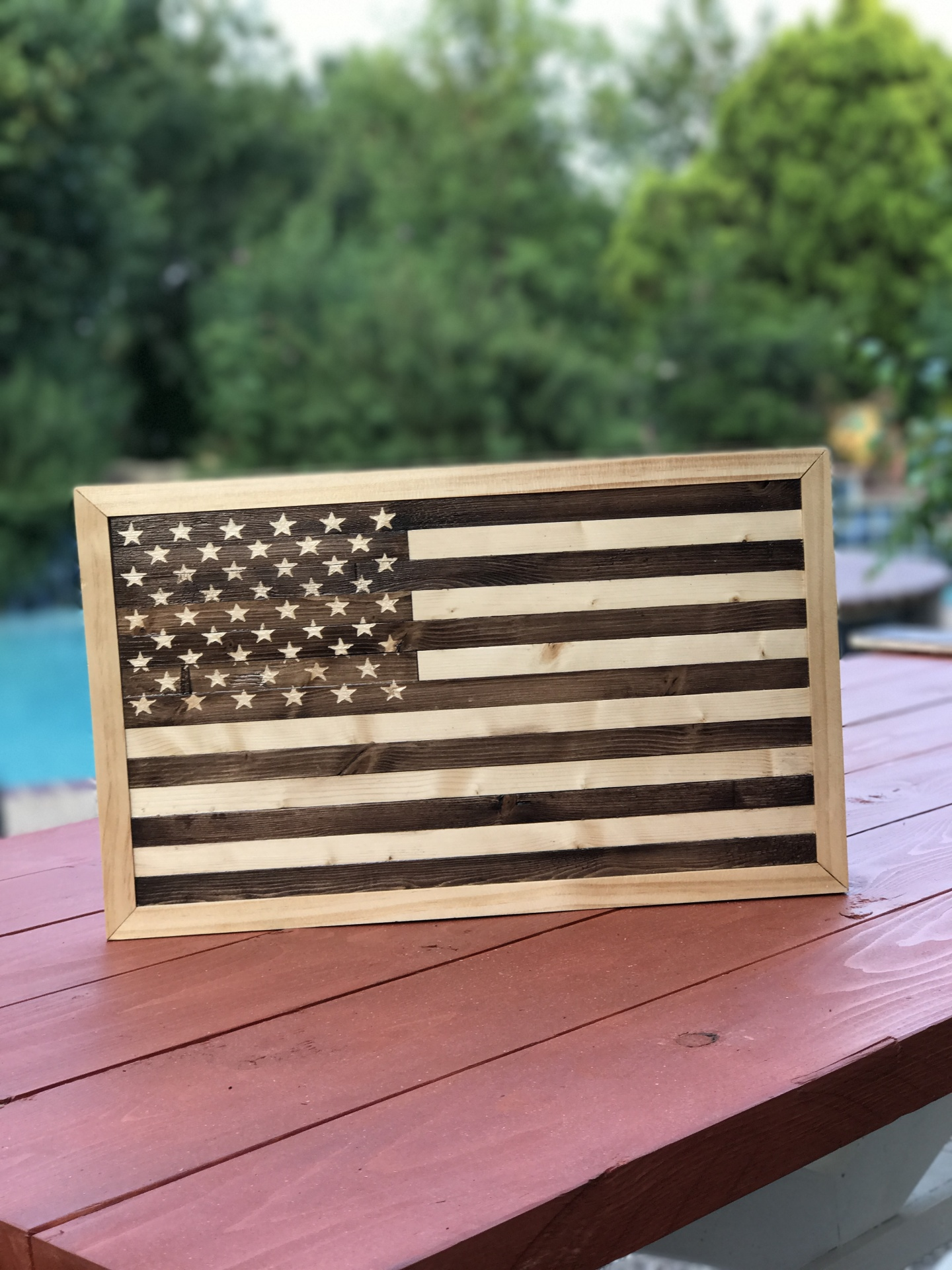 US Flag Stand by