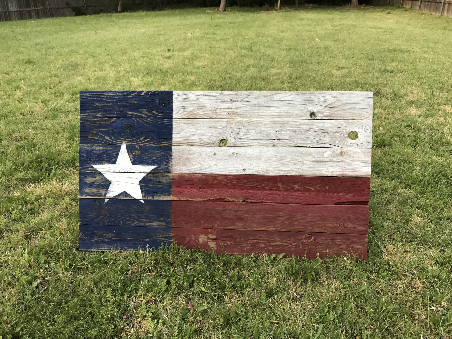 Texas Color Flag Reclaimed Wood