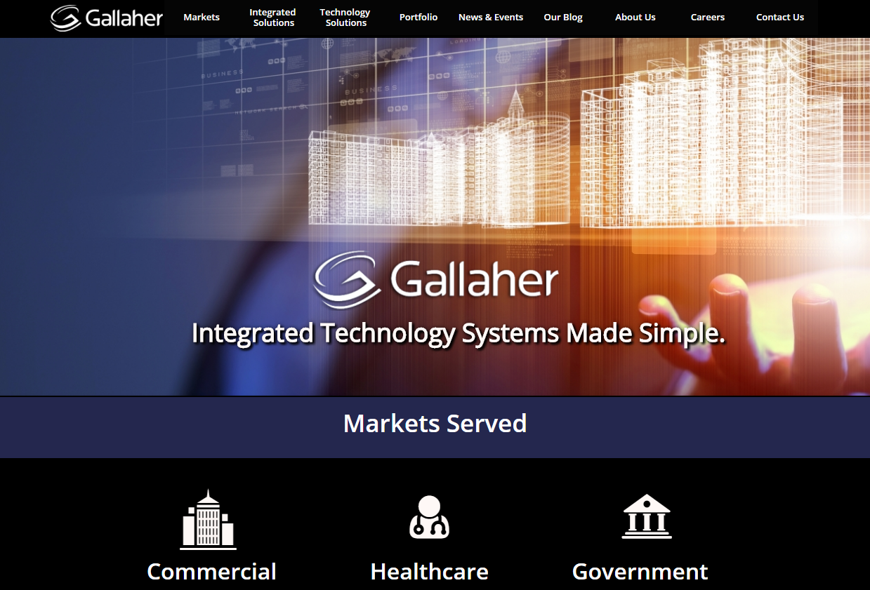 Gallaher Celebrates 44 Year Anniversary with Website Redesign
