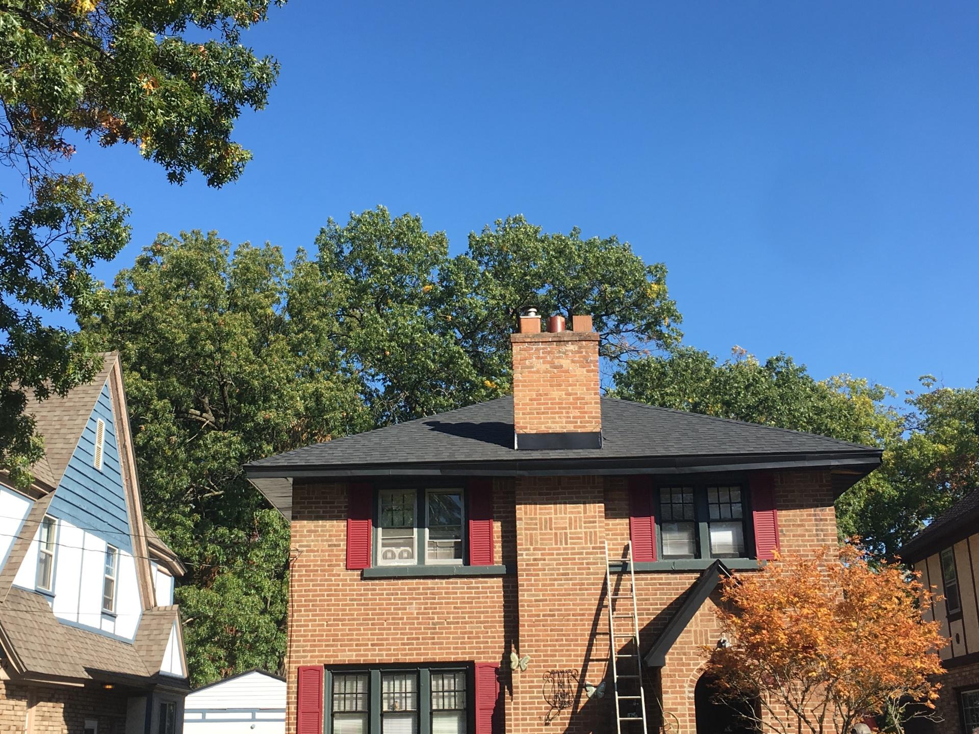 SE 2 Story Brick Hip Roof -After
