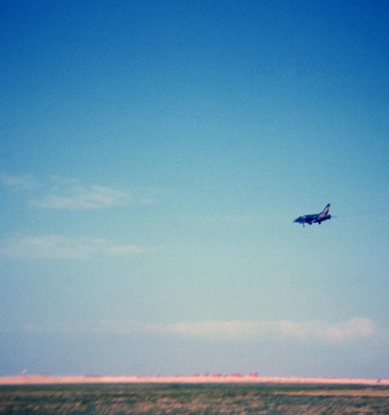 F-100 Landing