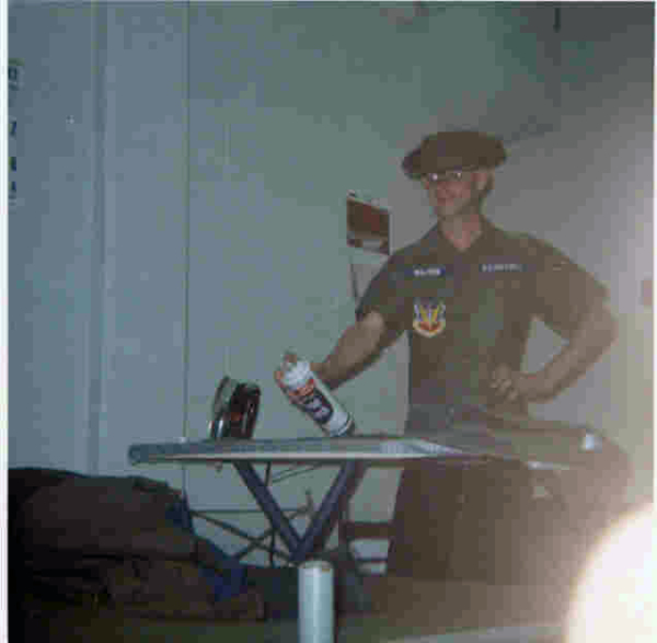 Ironing my fatigues